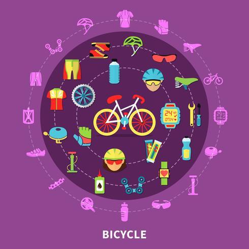 Ilustração do conceito de bicicleta