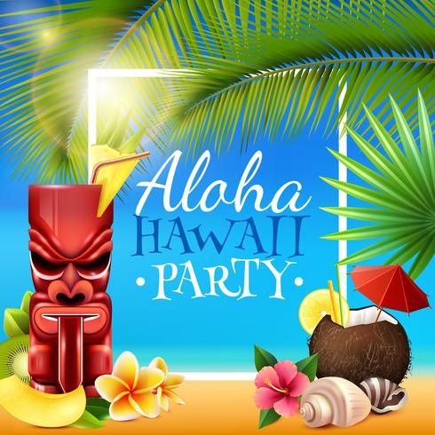 Cadre de fête hawaïenne