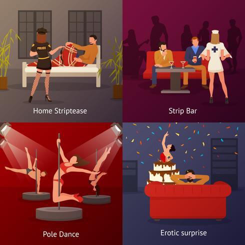 Set di composizioni di danza erotica