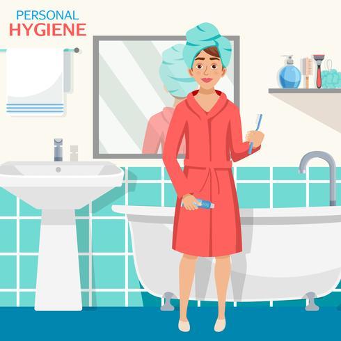 Hygiène de la composition de la salle de bain