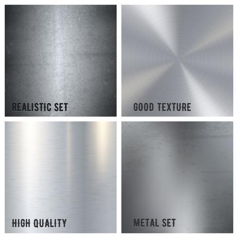 Concept de design de texture en métal vecteur