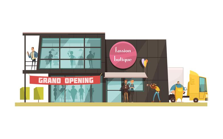 Illustration de boutique de mode