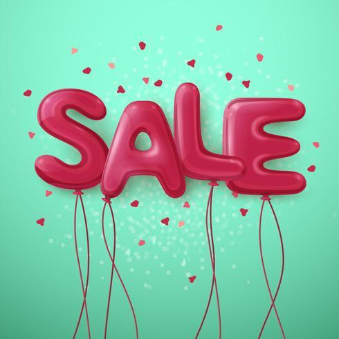 Försäljning Ballong Letters Background vektor