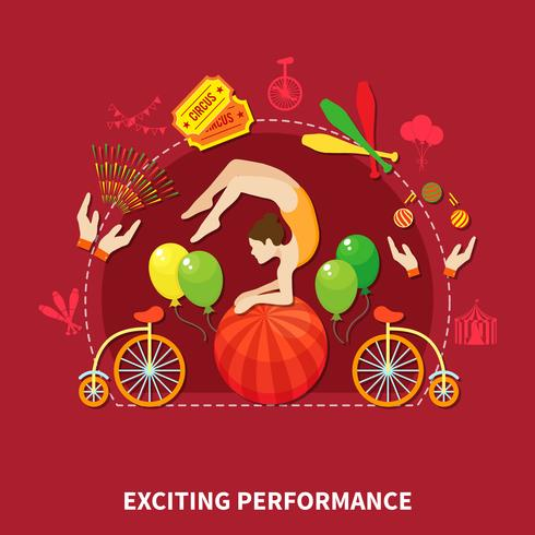 Exciting perfomance design vector illustration