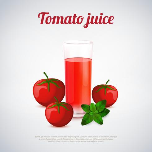 Tomatensaft-Illustration vektor