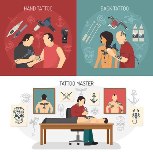 tatueringsstudio designkoncept
