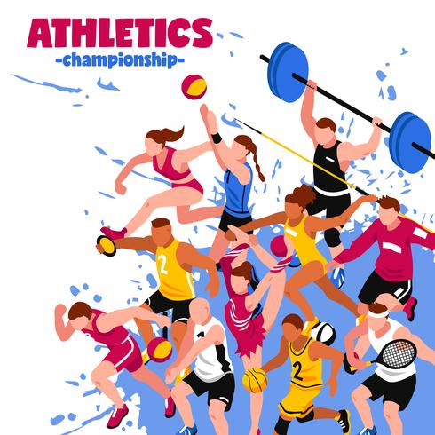 Colorful Sport Isometric Poster