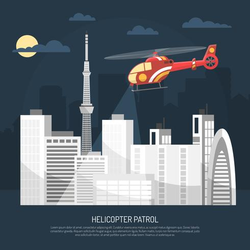 Helikopter Patrouille Illustratie