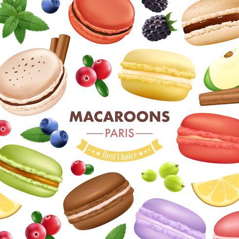 Fondo de productos de macarrón dulce
