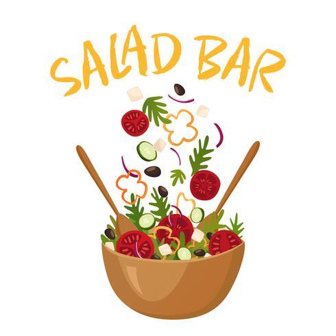 Salade Bar Vector Illustration