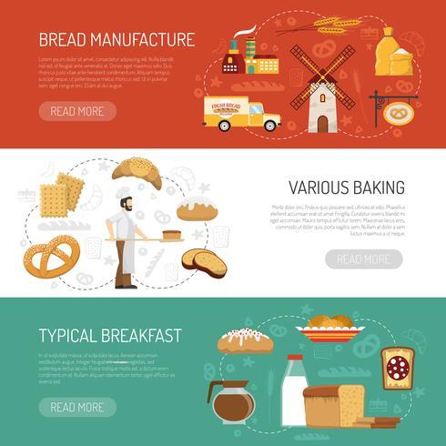 Banners de panadería horizontales