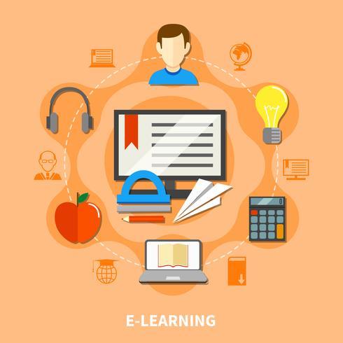 E Learning Composition colorée