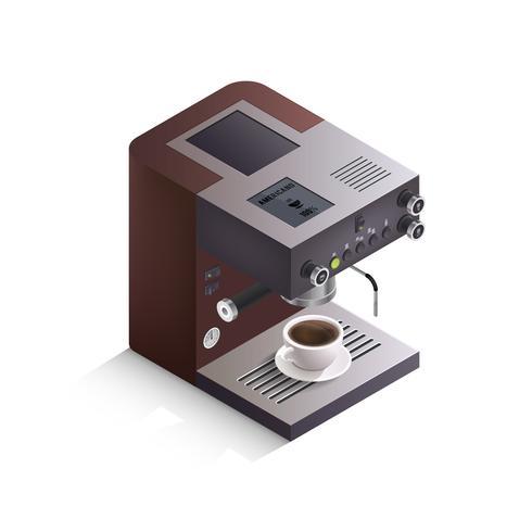 Koffiemachine isometrische illustratie