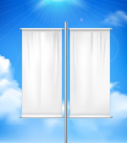 Blank Double Advertisement Banner Image réaliste