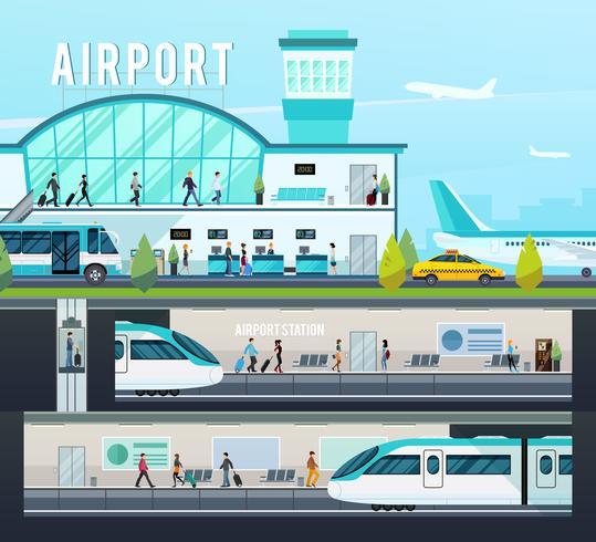 Composições do Terminal de Transporte vetor