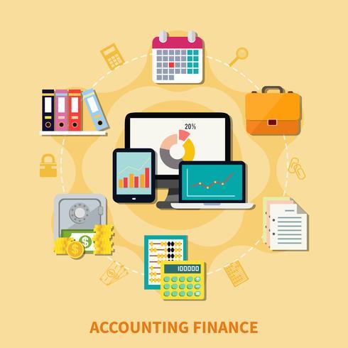 Concepto de diseño de negocios y finanzas vector