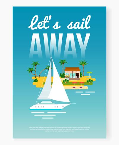 Sail Away cartel de vacaciones