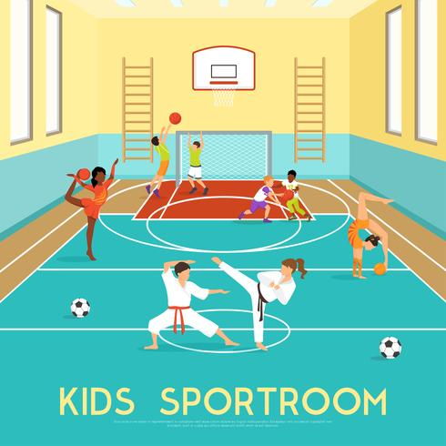 Poster van kinderen Sportroom