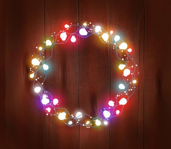 Kerst licht Garland Poster