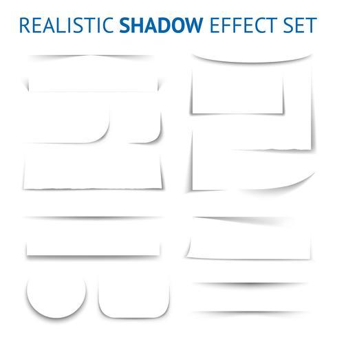 Realistische schaduweffect-collectie