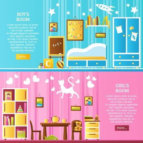 Banners horizontales interiores de la habitación del bebé
