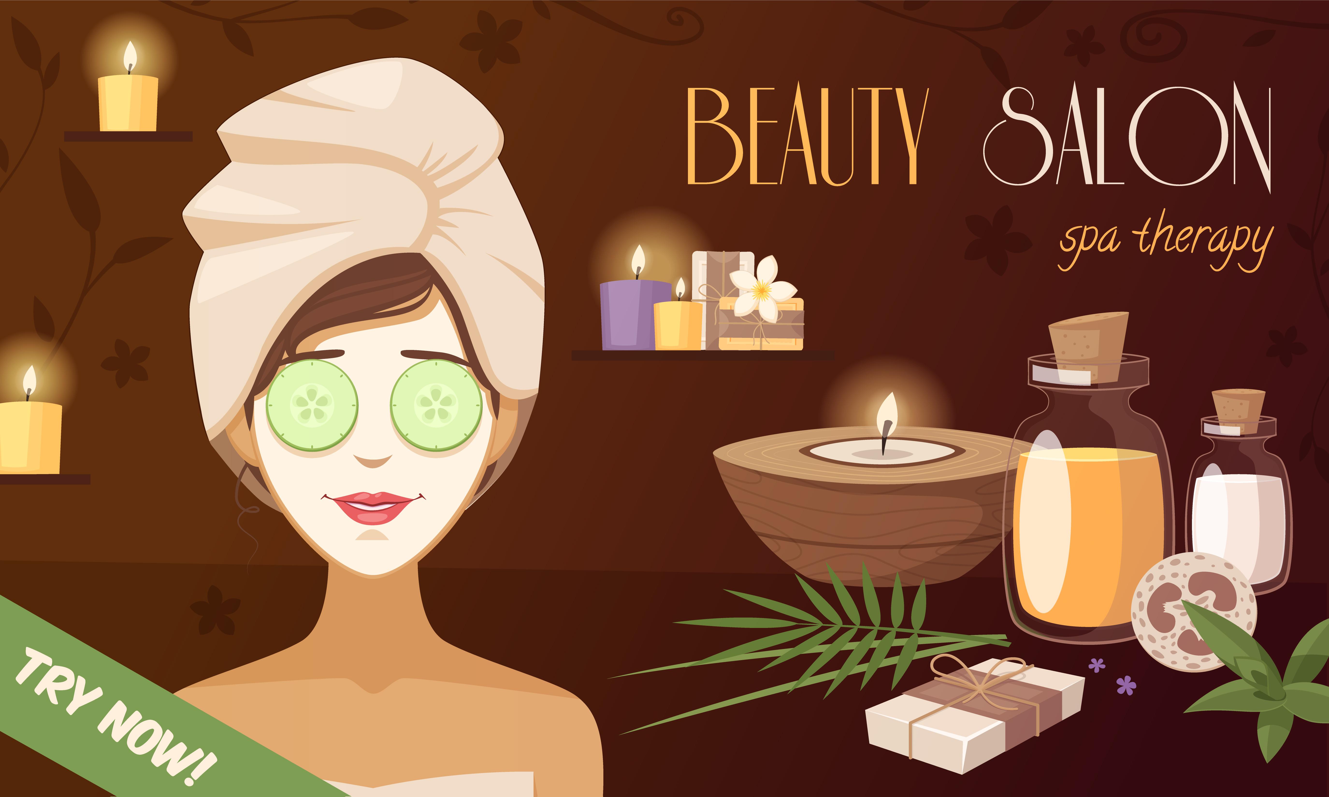 Spa Beauty Salon Cartoon Template Download Free Vectors Clipart Graphics Vector Art