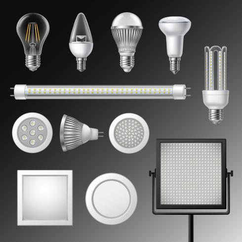 Ensemble de lampes led réalistes