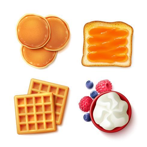 Frukost mat 4 för att se objekt vektor