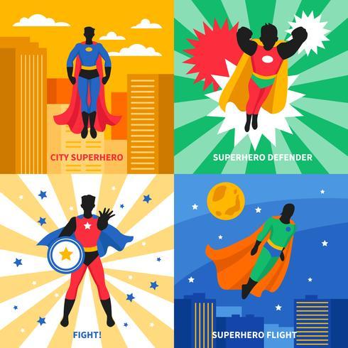 Super-héros 2x2 Design Concept vecteur
