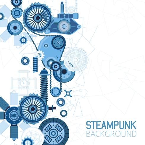 Steampunk-futuristischer Hintergrund