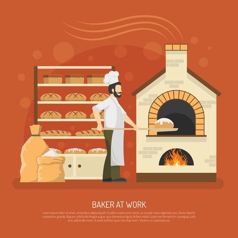 Ilustração de trabalho de padaria