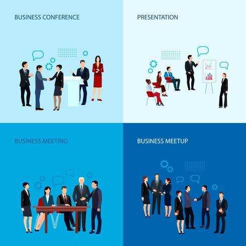 Concepto de reuniones y conferencias vector