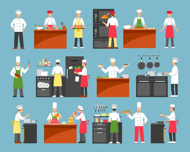 Professional Cooking Decorative Icons Set