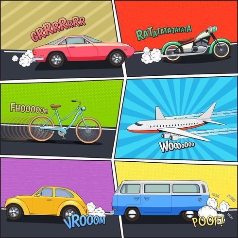Set di telai comici di trasporto
