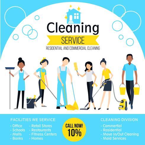 Manifesto dell'azienda di pulizie