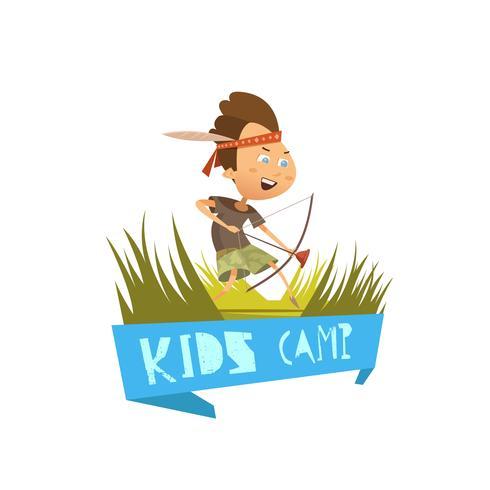 Concetto di campo per bambini vettore