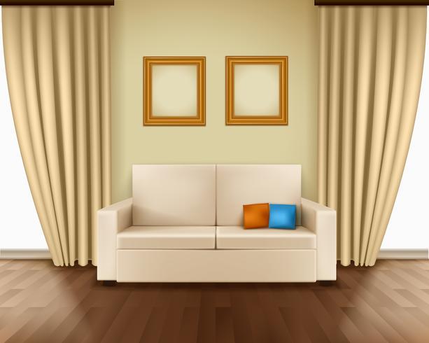 Interior de la habitación realista