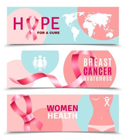 Banners De Câncer De Mama vetor
