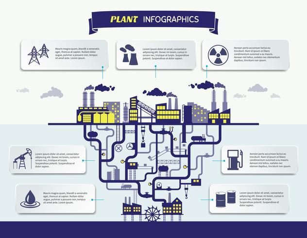 Ilustración de vector de infografías de planta