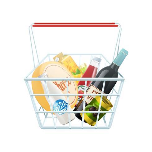 Shopping Basket Concept  vector