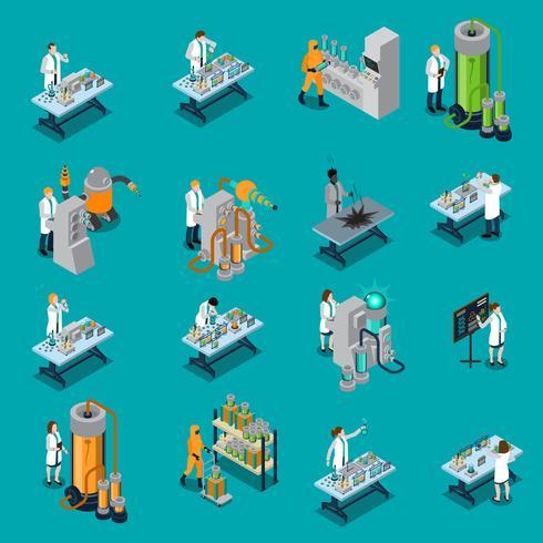 Conjunto de iconos científico