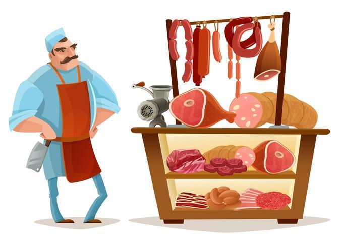 Butcher Cartoon Concept