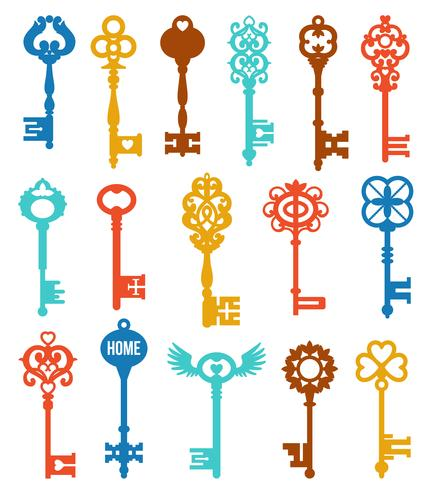 Set di chiavi colorate