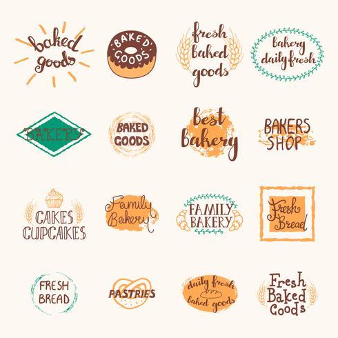 Bakery Labels Set vector