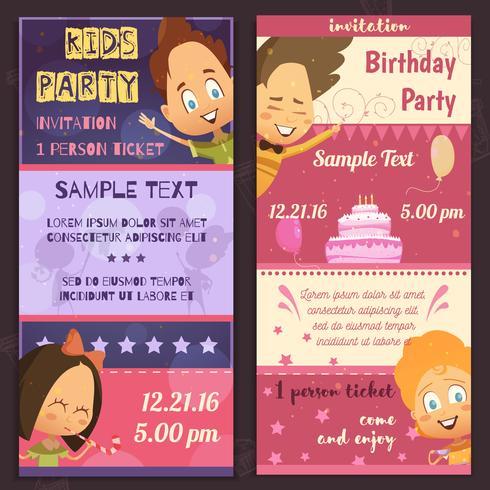 barn party inbjudan banners