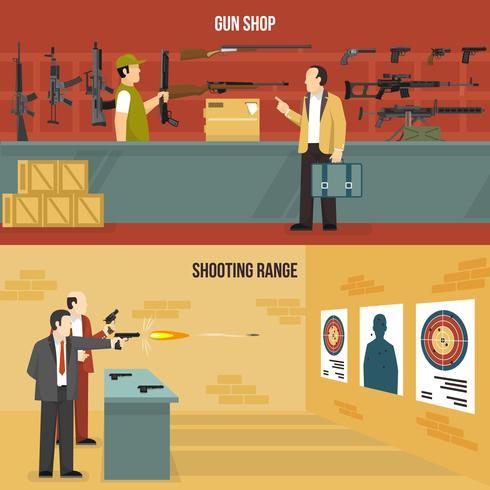 Vapen Guns Banners vektor
