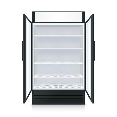 Réfrigérateur Vide Commercial Réaliste