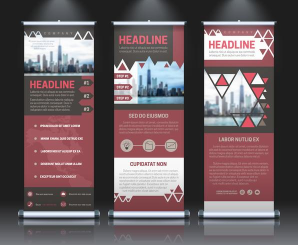 Rollup banners template vector