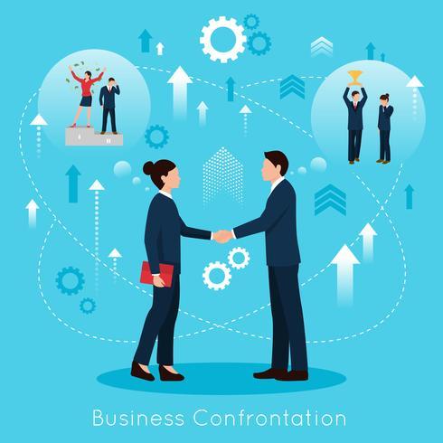 Manifesto composizione piatto di confronto costruttivo