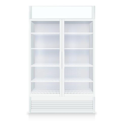 Realistic Empty Freezer vector